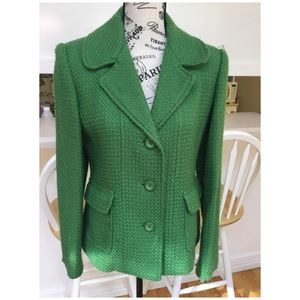 Rafaela Green Ladies Wool Blend Blazer Size 8